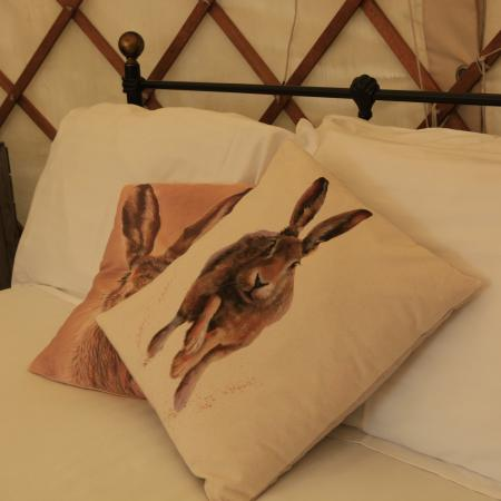 Lovely comfy beds in Yurts