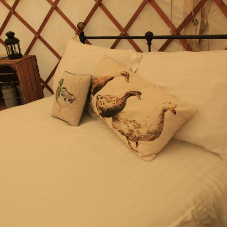 Large beds in Yurts
