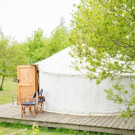 Secluded Glamping Yurt in Somerset at Yeabridge Farm